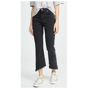 Joe's Jeans Callie Cropped Bootcut Frayed Jeans